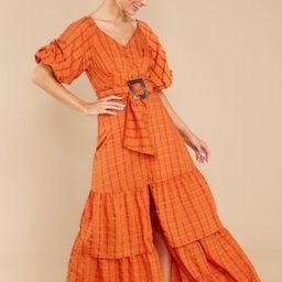 Take This Dance Apricot Orange Print Maxi Dress | Red Dress