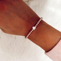Mini Heart Opal 14k Gold Filled Bracelet | Etsy (US)