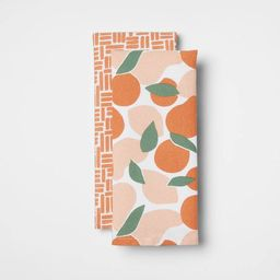 2pk Cotton Abstract Fruit Kitchen Towels - Room Essentials™ | Target