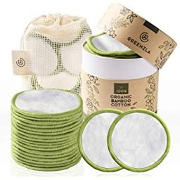 Greenzla Reusable Makeup Remover Pads (20 Pack) With Washable Laundry Bag And Round Box for Stora... | Amazon (US)