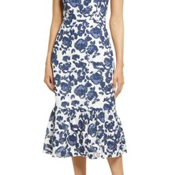 Floral Burnout Cotton Midi Dress   Nordstrom