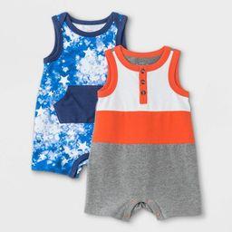 Baby Boys' 2pk Star Tie-Dye Romper - Cat & Jack™ Gray | Target