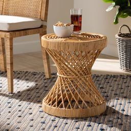 Baxton Studio Seville Modern and Contemporary Natural Finished Rattan End Table | Walmart (US)