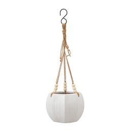 "Better Homes & Gardens Pottery 8"" Mylia Ceramic Hanging Planter, White | Walmart (US)"