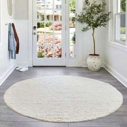 Off White Braided 8' x 10' Area Rug | Rugs USA
