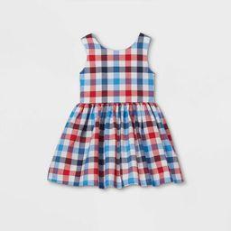 Toddler Girls' Gingham Dress - Cat & Jack™ Red/White/Blue   Target