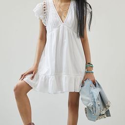 Ruffled Lace Mini Dress | Anthropologie (US)