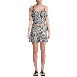 No Boundaries Juniors Ruffle Skirt Set, 2-Piece   Walmart (US)