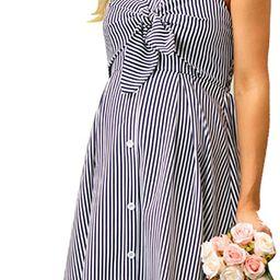 Maacie Women Maternity Striped Cami Dress Spaghetti Straps Buttons Down Dress   Amazon (US)