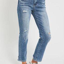 Risen Vintage Wash Straight Leg Jeans | Social Threads