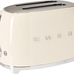 Smeg TSF01CRUS 50's Retro Style Aesthetic 2 Slice Toaster, Cream   Amazon (US)