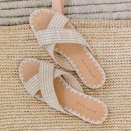 Raffia Crossover Sandal - Natural | Jenni Kayne | Jenni Kayne