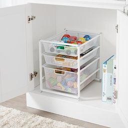 Elfa Narrow Cabinet-Sized Drawer Solution White   The Container Store