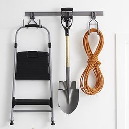 Elfa Platinum Utility Track with Three Hooks   The Container Store