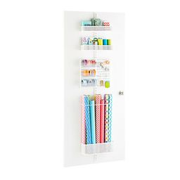 White Elfa Utility Mesh Gift Packaging Over the Door Rack Solution   The Container Store