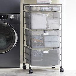 Elfa Platinum Laundry Sorter Drawer Unit   The Container Store