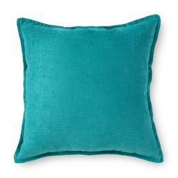 """Mainstays Faux Suede Decorative Square Throw Pillow with Flange, 18"""" x 18"""", Peacock - Walmart.com   Walmart (US)"""