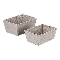 Mainstays Twisted Paper Rectangular Basket, Set of 2 - Walmart.com   Walmart (US)