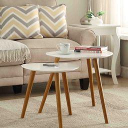 Convenience Concepts No Tools Oslo Nesting End Tables, Mutliple Colors - Walmart.com   Walmart (US)