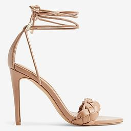 Braided Lace-Up Heeled Sandals   Express