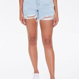Distressed Denim Mom Shorts | Forever 21 (US)