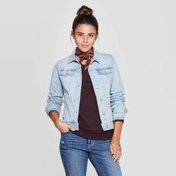Women's Essential Freeborn Denim Jacket - Universal Thread™ Light Wash   Target