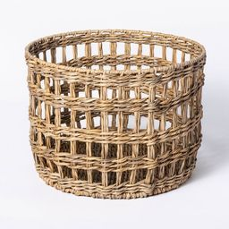 Manmade Outdoor Wicker Basket Beige - Threshold™ designed with Studio McGee | Target