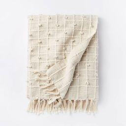 Woven Cotton Plaid Throw Blanket Cream - Threshold™ designed with Studio McGee | Target