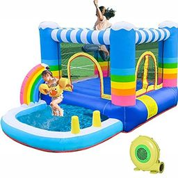 HIJOFUN Inflatable Bounce House with Blower,JumpingCastlesforKids with Pool Indoor Outdoor ... | Amazon (US)