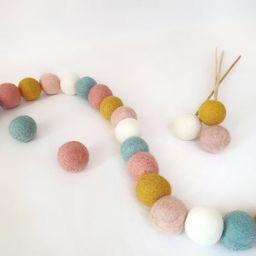 Bloom Pastel Pom Pom Garland - Felt Ball Nursery Decor | Etsy (US)