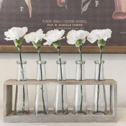 5 Piece Villela Brown Glass Table Vase Set | Wayfair North America
