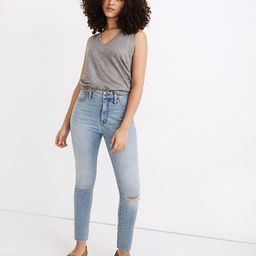 Petite Curvy Roadtripper Authentic Jeans in Benton Wash: Knee-Rip Edition | Madewell