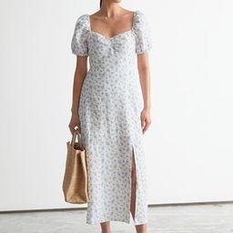 Puff Sleeve Linen Midi Dress | & Other Stories