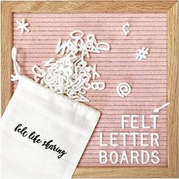 Felt Letter Board, 10x10in Changeable Letter Board with Letters White 300 Piece - Felt Message Bo... | Amazon (US)