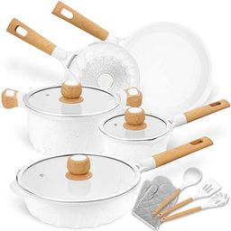 Cookware Set Nonstick 100% PFOA Free Induction Pots and Pans Set with Cooking Utensil 13 Piece ...   Amazon (US)