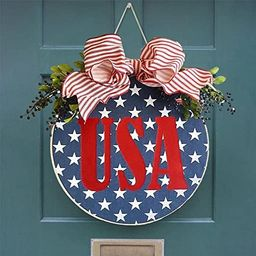 4th of July Decorations for Home,Handcrafted Patriotic Independence Day Wooden Listed Ornament,fo...   Amazon (US)