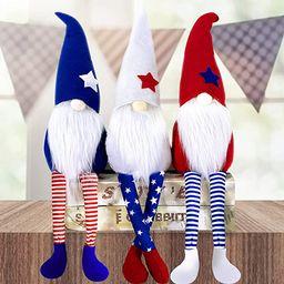 3Pcs 4th of July Patriotic Gnomes Plush Decorations Stars Stripes Handmade Gnomes Ornaments for P...   Amazon (US)