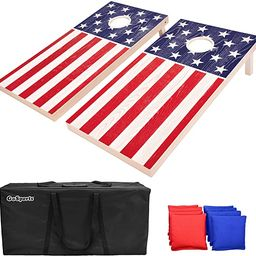 GoSports Flag Series Wood Cornhole Sets – Choose between American Flag and State Flags – Incl... | Amazon (US)