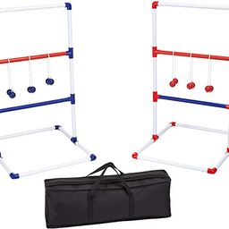 Amazon Basics Ladder Toss Outdoor Lawn Game Set with Soft Carrying Case - 40 x 24 Inches, Red and... | Amazon (US)