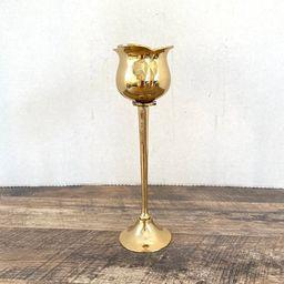 Brass Votive Candleholder tulip Vintage Solid Brass flower shape CandleHolder | Etsy (CAD)