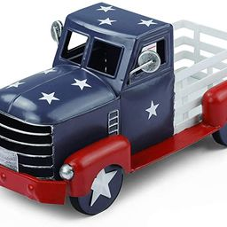 Patriotic Truck Decor, Vintage Fourth of July Metal Truck Planter, Farmhouse Pick-up Truck Spring...   Amazon (US)