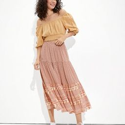 AE Tiered Maxi Skirt | American Eagle Outfitters (US & CA)