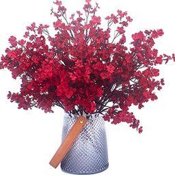 Babys Breath Fabric Cloth Artificial Flowers 6 Bundle European Fake Silk Plants Decor Wedding Par...   Amazon (US)