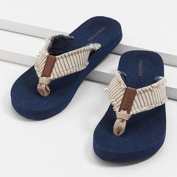 Leah Gray Stripe Flip Flop   Maurices