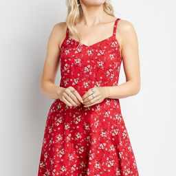 Americana Floral Smocked Back Mini Dress | Maurices