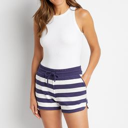 Navy Stripe 3.5in French Terry Short | Maurices