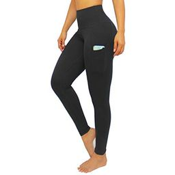 LMB Lush Moda Leggings for Women with Pockets Extra High Waist Slimming Design, Extra Soft, Black... | Walmart (US)