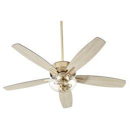 Breeze Aged Brass Two-Light 52-Inch Ceiling Fan | Bellacor