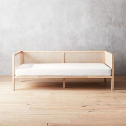 Boho Natural Daybed with Pearl White Mattress Cover + Reviews   CB2   CB2