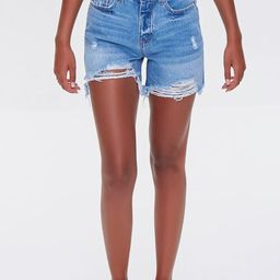 Distressed Denim Mom Shorts   Forever 21 (US)